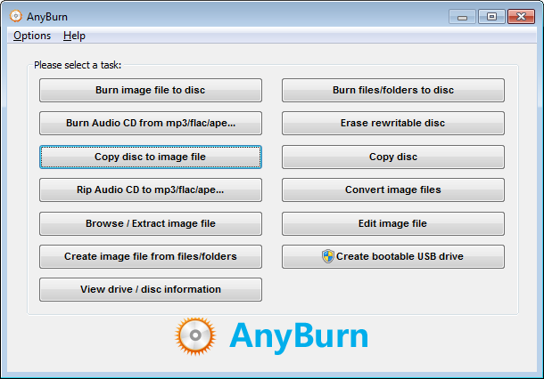 Copy disc to ISO file