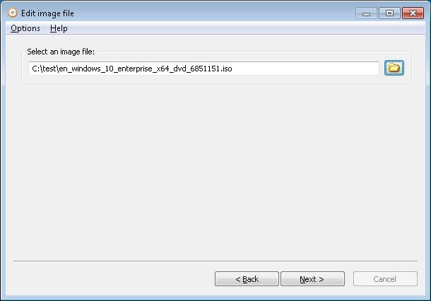 Edit ISO file