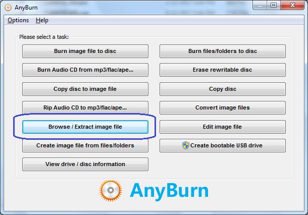 Extract BIN / CUE file