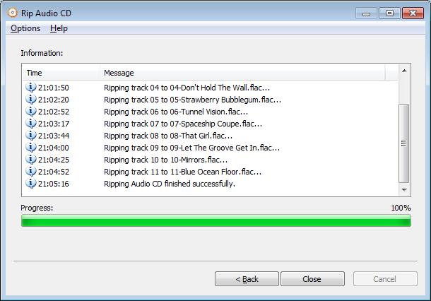 Rip CD to flac files